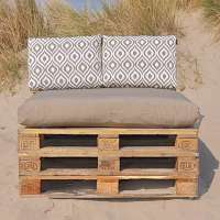 Pallet kussen taupe combi wit